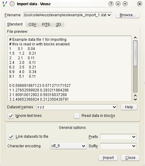 Reading data — Veusz 3 0 documentation